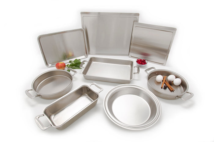 8 Piece Multi Ply Stainless Steel Bakeware Set