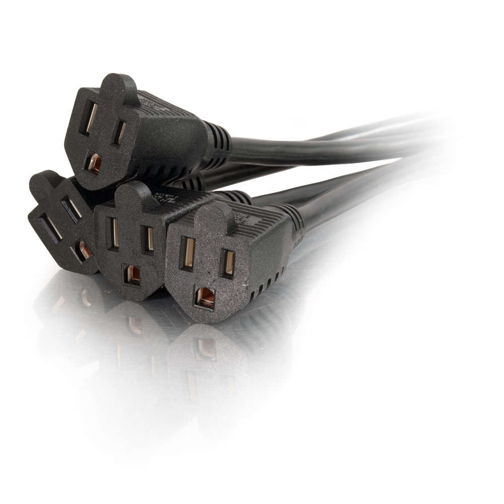 1-to-4 Power Cord Splitter 18in