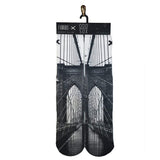 Brooklyn Bridge on crew socks