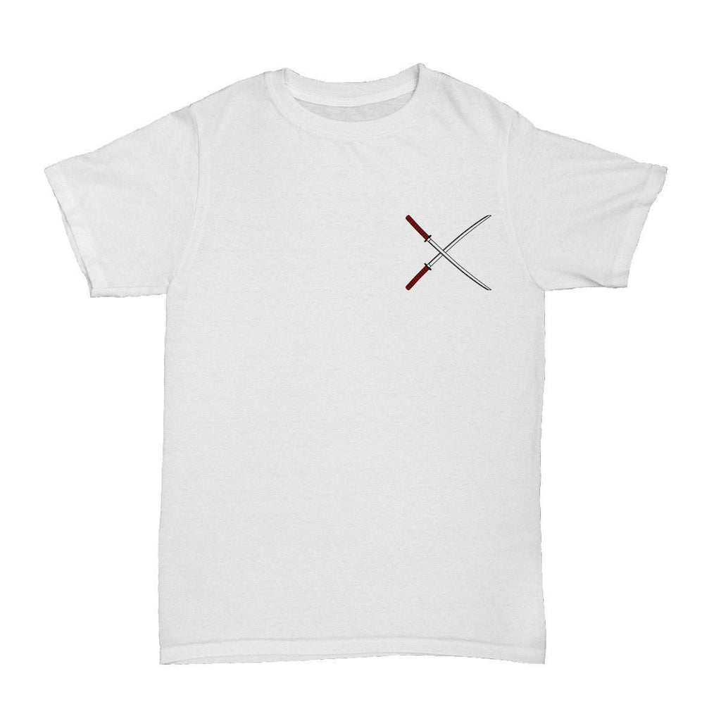 Samurai Swords T-Shirt White - ODD SOX