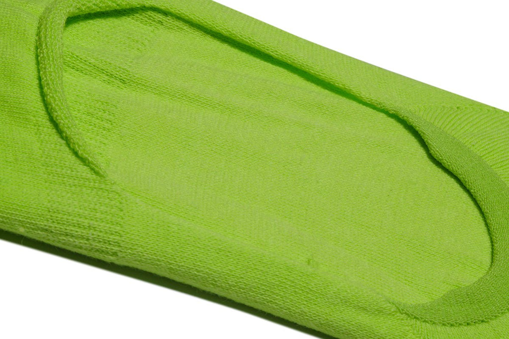 Neon Yellow Basix Fashion No Show - ODD SOX