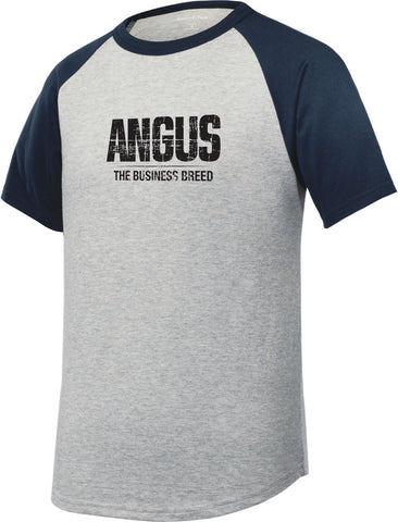 Angus Branded Youth Raglan Jersey Tee