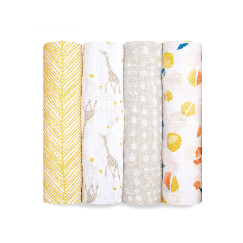 4 Pack Swaddles Classic
