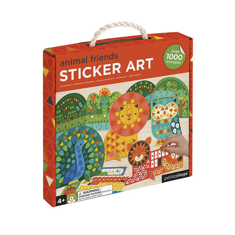 Petit Animal Friends Preschool Sticker Art Kit