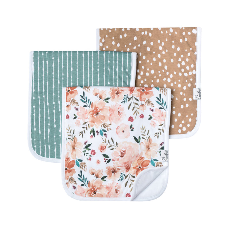 Copper Pearl Burp Cloth Set 3 Pack