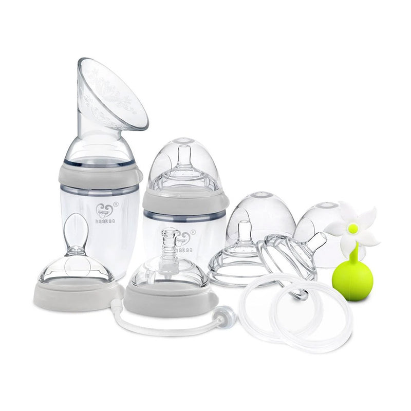 Haakaa Breast Pump Premium Pack (Grey)