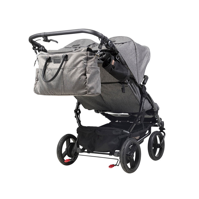 Mountain Buggy Duet- Herringbone With Satchel And Bag Clips