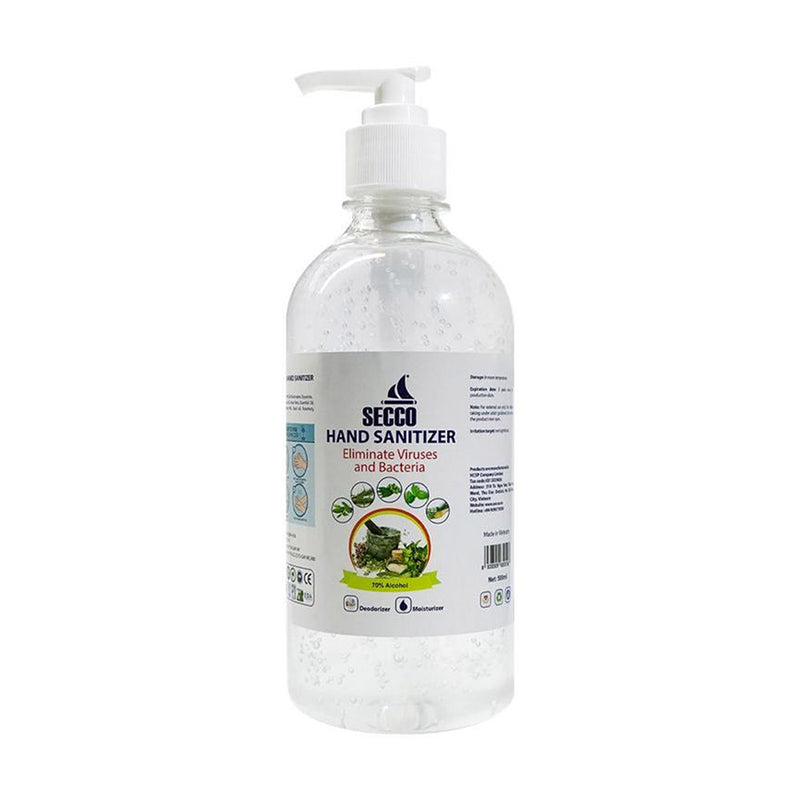 Secco Hand Sanitizer Gel With Pump 500 ML