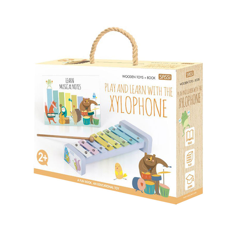 Sassi Book And Wooden Toys Xylophone