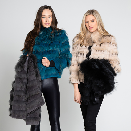 FUR VESTS & JACKETS