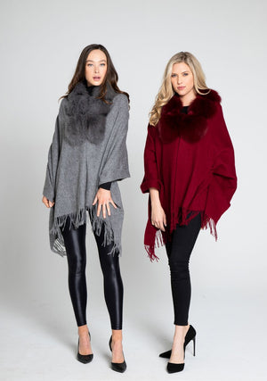 Cashmere Wrap with Fox