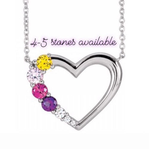 Mother's Day Sterling Silver Heart Necklace