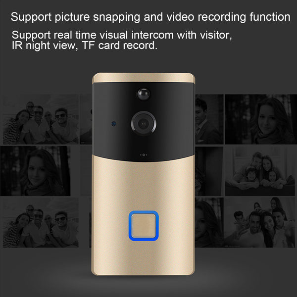 Smart Wireless WiFi Video DoorBell Phone IR Motion PIR Detection Camera Remote