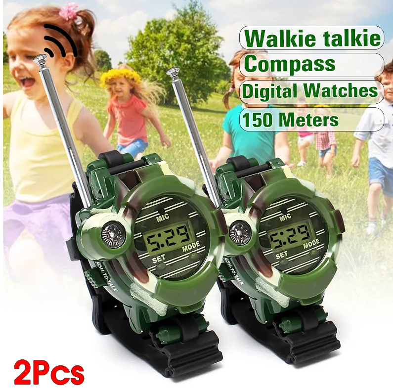 Walkie Talkie Toy Watches For Kids 7 in 1 Outdoor Interphone Games For Girls and Boys