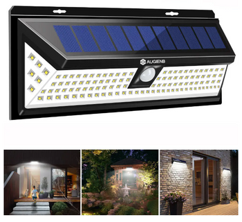 Solar PIR Motion Sensor 118LED Waterproof Garden Backyard Lamp