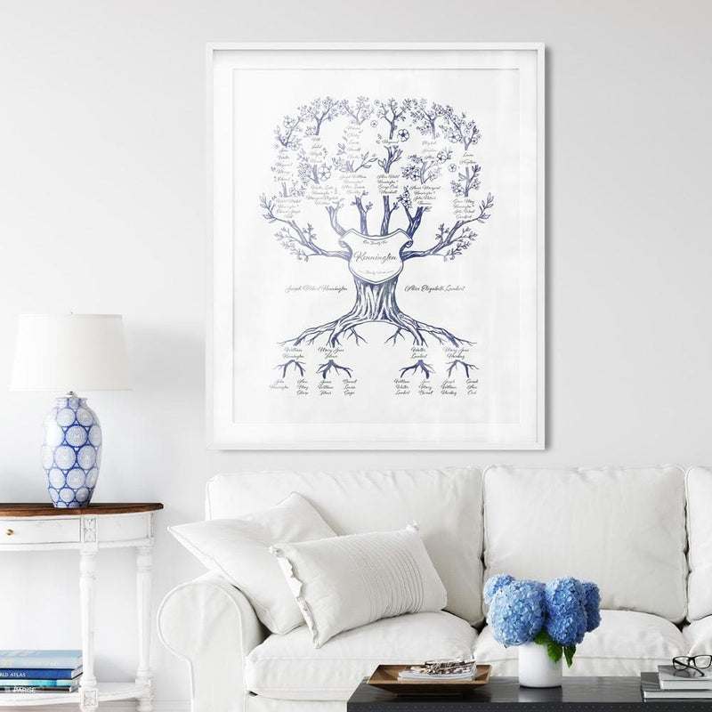 Family Branches Hamptons Blue Digital Family Tree Template MyGeneTree
