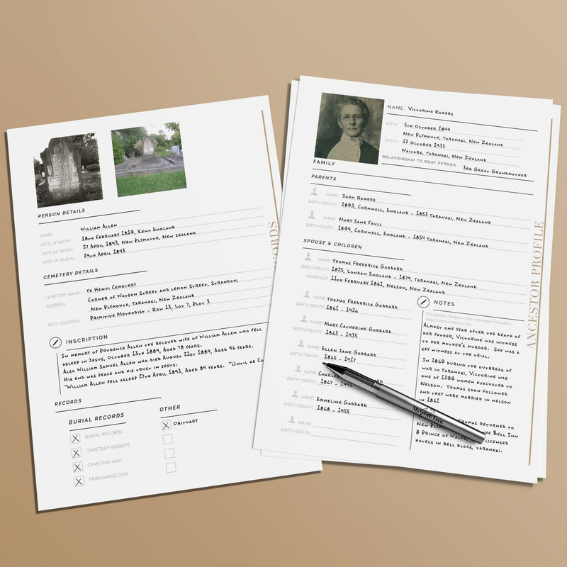 Ultimate Genealogy Research Pack Blank Printable Charts MyGeneTree