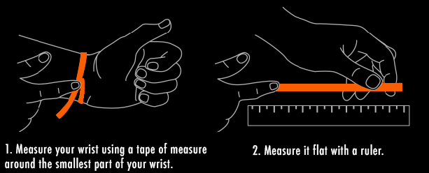 Bracelet sizing guide. ESKIMO Jewelry.