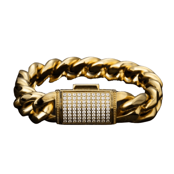 ESKIMO Jewelry Bracelet 18mm Cuban Bracelet | Diamond Clasp