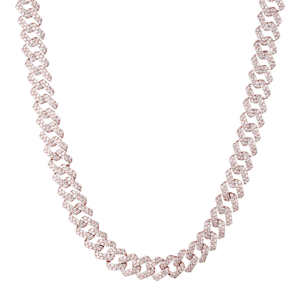 ESKIMO Jewelry Necklace 12mm Cuban Necklace | Diamond set