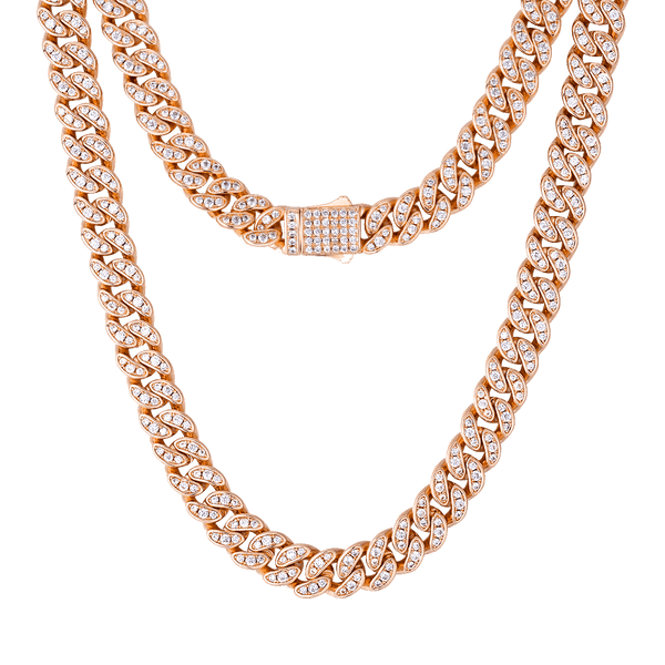 ESKIMO Jewelry Necklace 8mm Cuban Necklace | Diamond set
