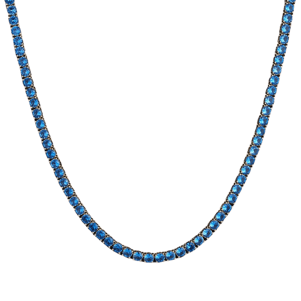 ESKIMO Jewelry Necklace Blue Diamonds Tennis Necklace