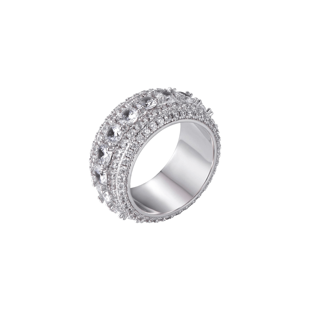 ESKIMO Jewelry Ring Diamond Stones Ring - S925 Silver