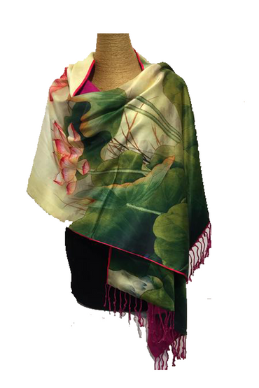 Sculptured Silk Scarf