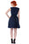 Blossom Wrap Dress Dark Blue