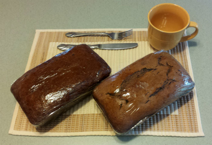 Chocolate Chip and Peanut Butter banana breads