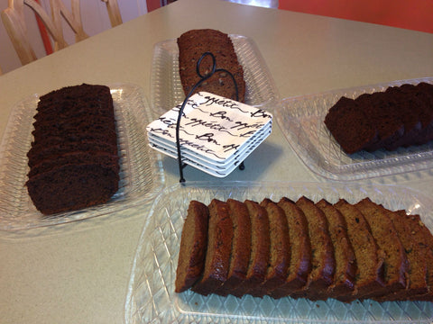Pecan Banana Bread and Mint Double Chocolate Banana Bread