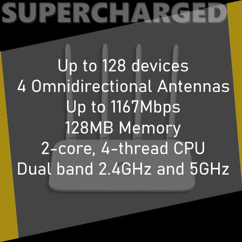 Supercharged Mi 4A Gigabit Wifi Router Specifications
