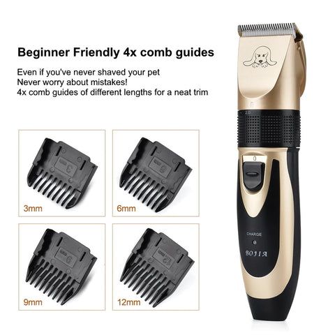 Sveltezza X8 Trimmer 4 different sized comb guides