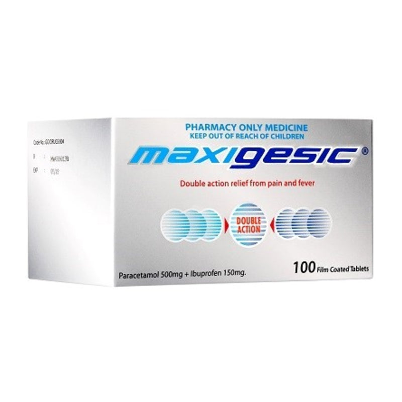 Maxigesic Double Action Pain Relief Tablets 100 [limited to 1 per order]