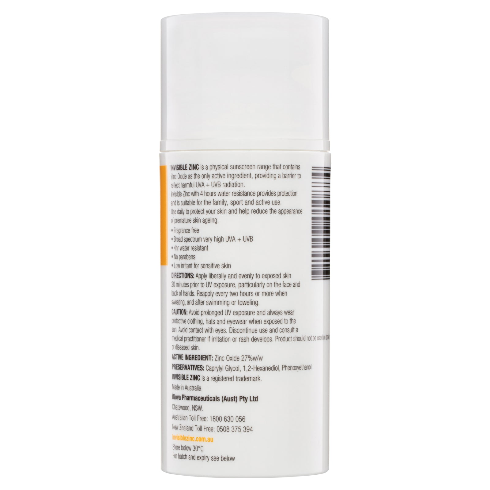 Buy Sport 4hr resistant SPF 50+ 100 mL by Invisible Zinc
