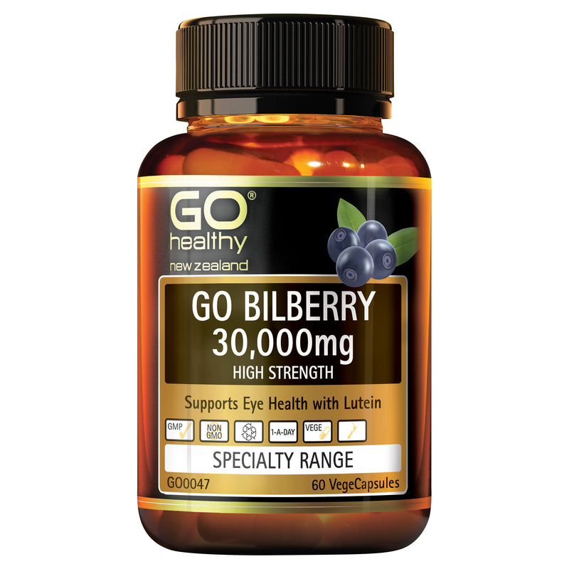 GO Bilberry 30,000mg 60 Vcaps