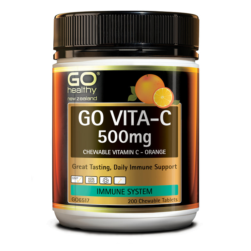 GO Vita-C 500mg (Orange) 200 Chew Tabs