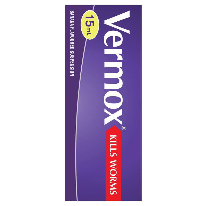 Vermox Worming Treatment Banana Flavoured Liquid 15mL