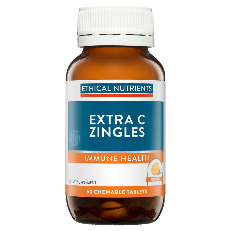 Ethical Nutrients Extra C Zingles Orange 50 Tablets