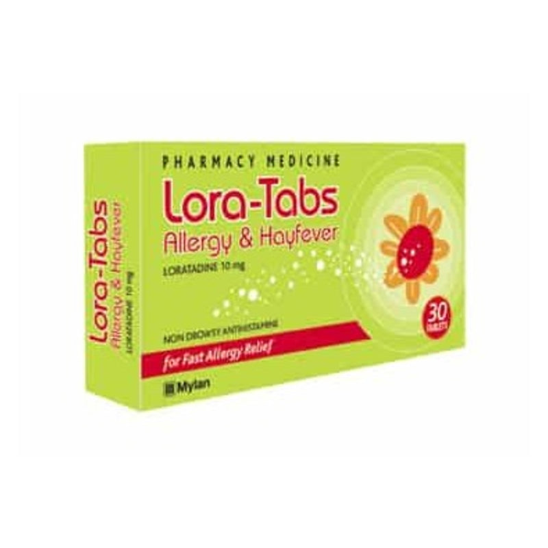 Lora-Tabs Allergy & Hayfever 10mg 30 Tablets