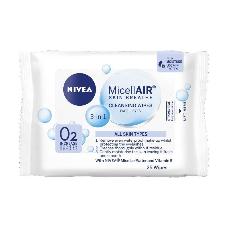 Nivea Daily Essentials Micellar Facial Cleansing Wipes Multi Pack 25 pieces