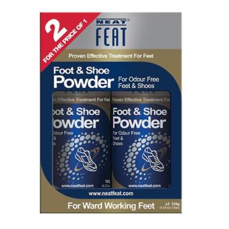Neat Feat Shoe Powder 2 for 1 Value Pack 125g