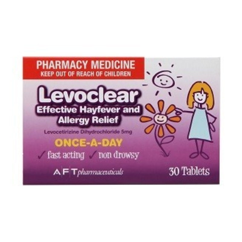 Levoclear Hayfever and Allergy Relief 5mg Tablets 30 [limited to 6 per order]