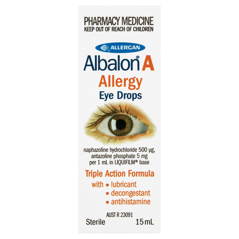 Albalon A Allergy Eye Drops 15mL NZ - Bargain Chemist
