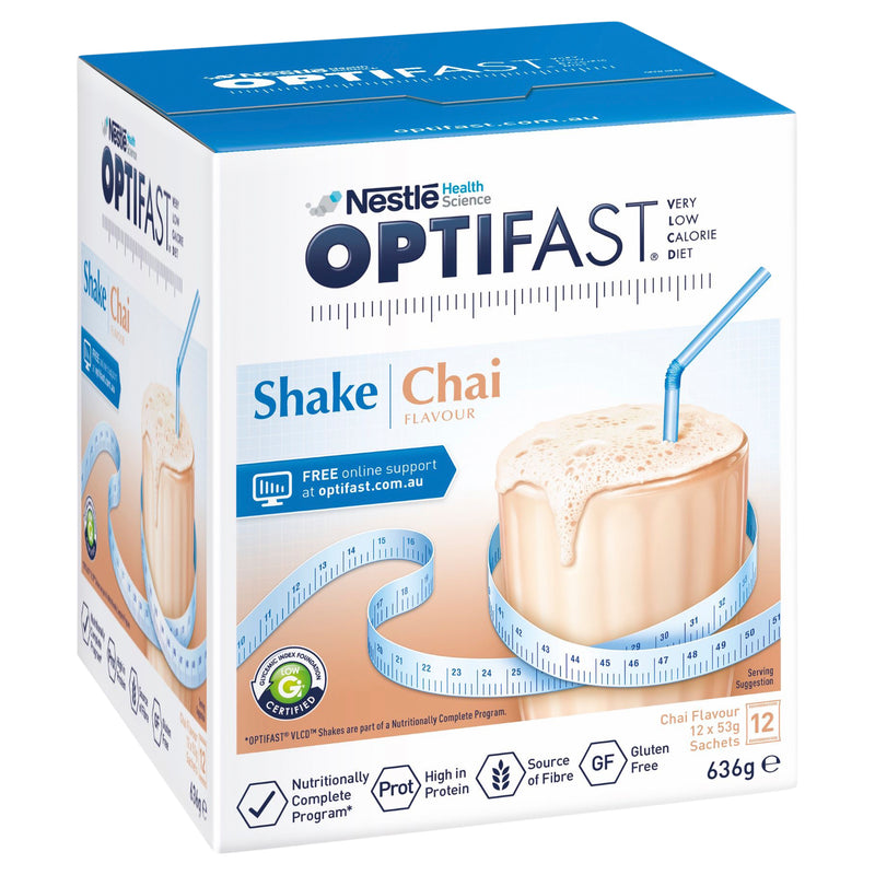 OPTIFAST VLCD Shake Chai - 12 Pack 53g Sachets