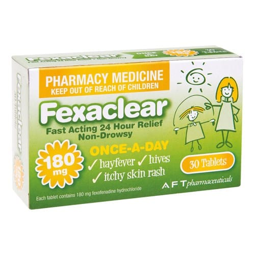Fexaclear 180mg Tablets 30