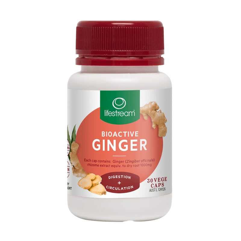 Lifestream Bioactive Ginger Capsules 30