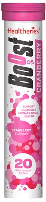 Healtheries Boost Cranberry Effervescents 20 Tablets