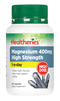 Healtheries Magnesium 400mg High Strength 1-a-day 60 Capsules