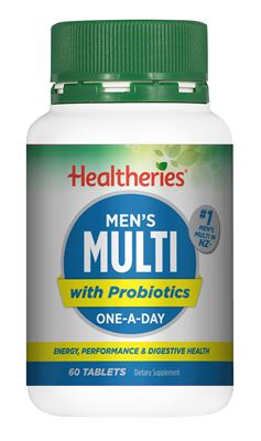 Healtheries Mens Multi with Probiotics One-A-Day 60 Tablets